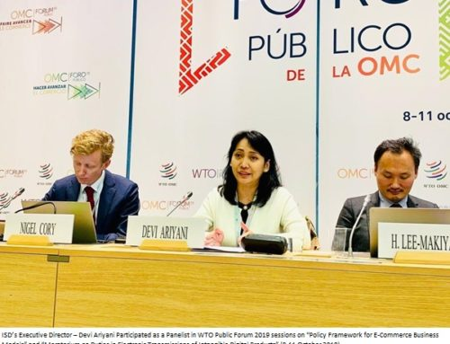 WTO Public Forum 2019: ISD  Voiced Indonesian Businesses' Concerns in E-Commerce and Digital Trade.